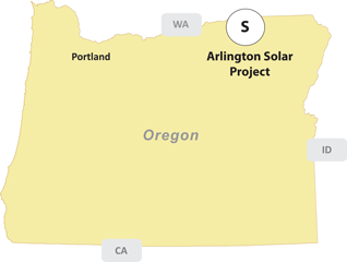 Arlington Solar Oregon Map