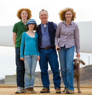 Crowley Family at Arlington Wind Farm 2008