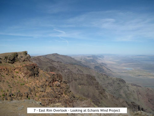 Looking at Echanis from the East Rim Overlook
