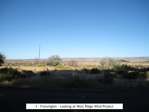 Frenchglen looking at West Ridge Wind Project